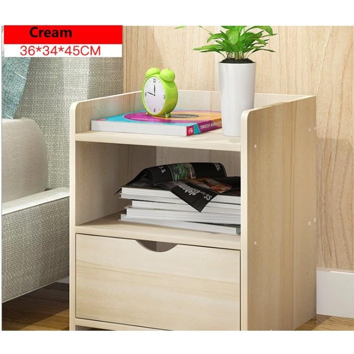 🔥M'SIA STOCK] Modern Combination Storage Bedside Cabinet- KABINET SERBAGUNA