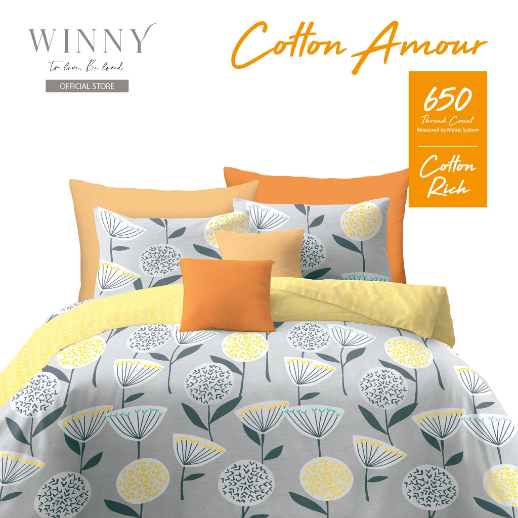 Winny Cotton Amour Fitted Sheet Sets
