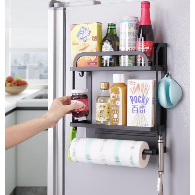 Spice Rack Holder Storage, Magnetic Refrigerator Side Hanger Rack