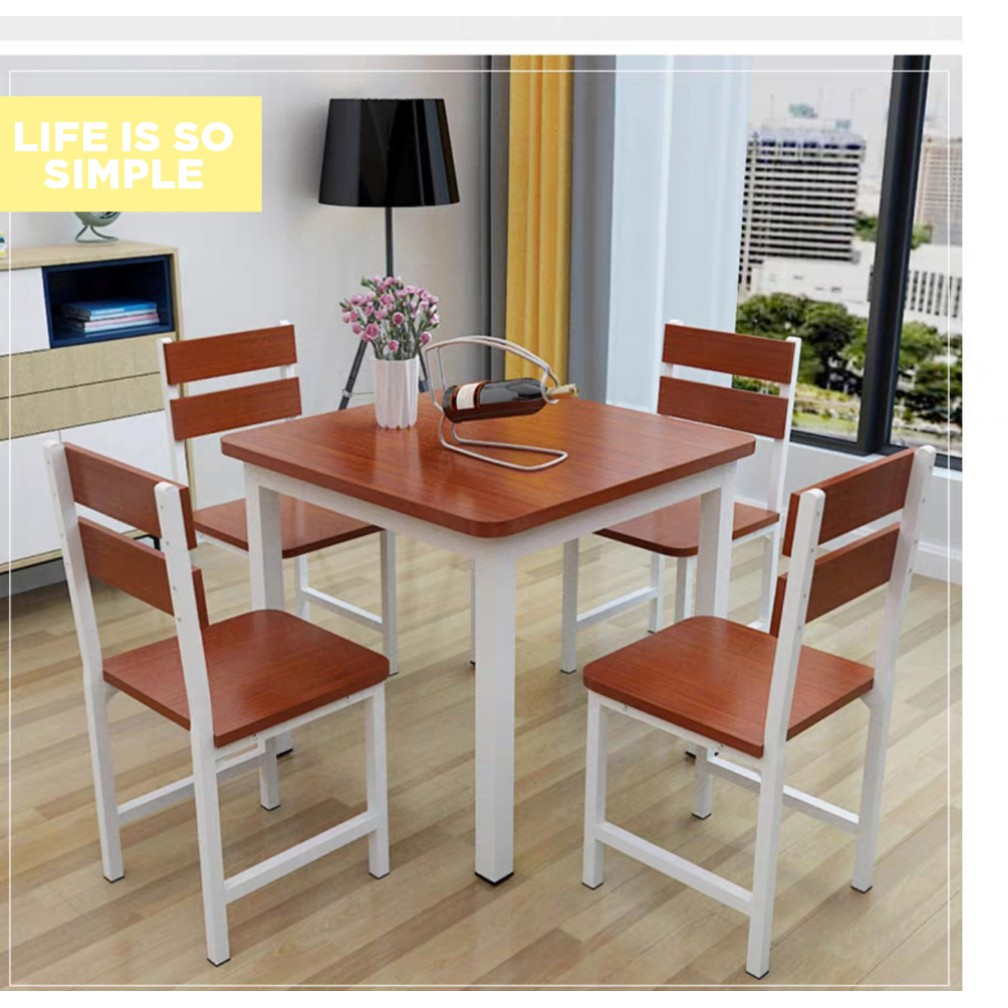 Table Chair Full Set Square 4 Seat