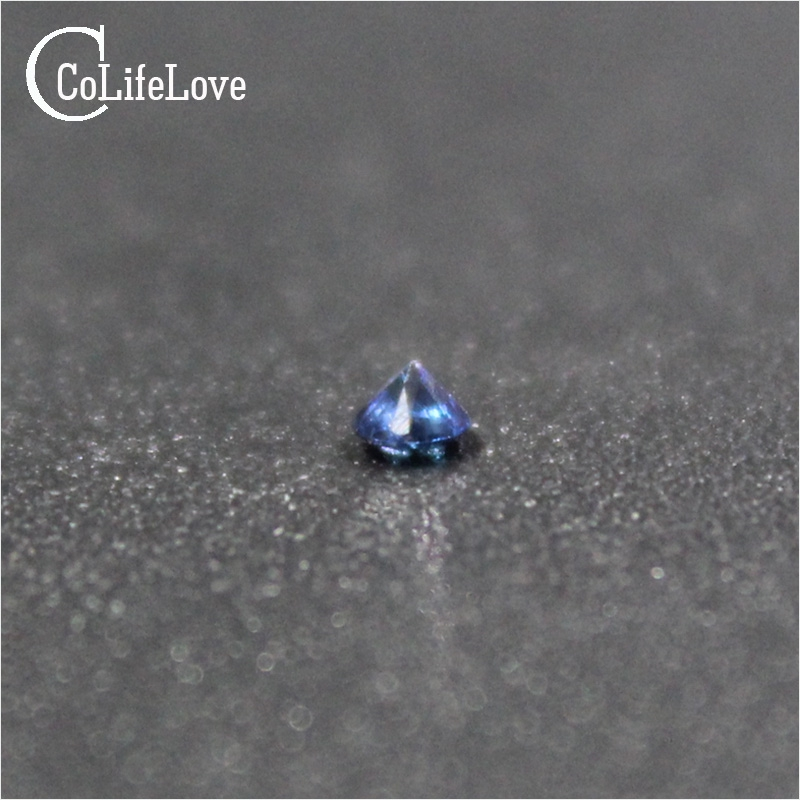 1.5MM to 2MM 100/% Natural AAA Blue Sapphire Round Cut Faceted Loose Gemstone