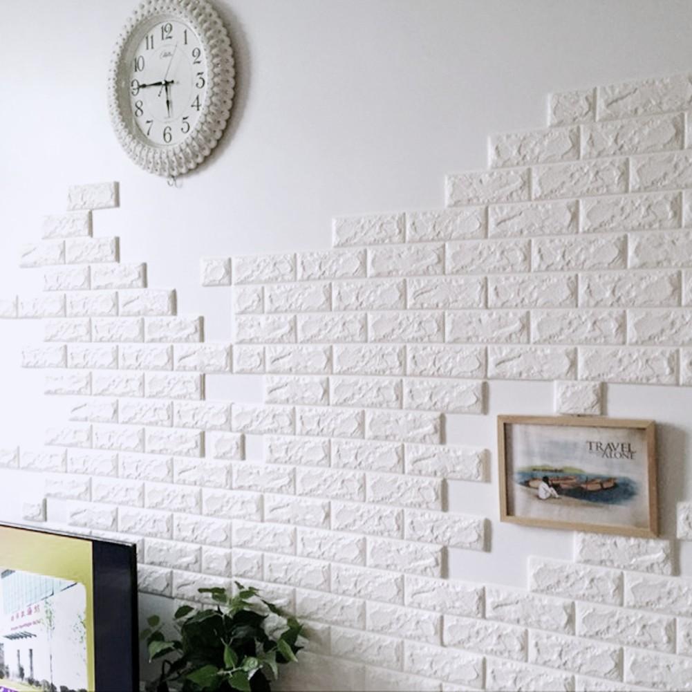 Pe Foam Wall Stickers 3d Brick Wallpaper Diy Wall Decals Wall Decor