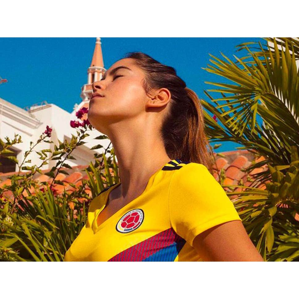 Colombia Women Home World Cup 2018 CLIMALITE Fans Jersey