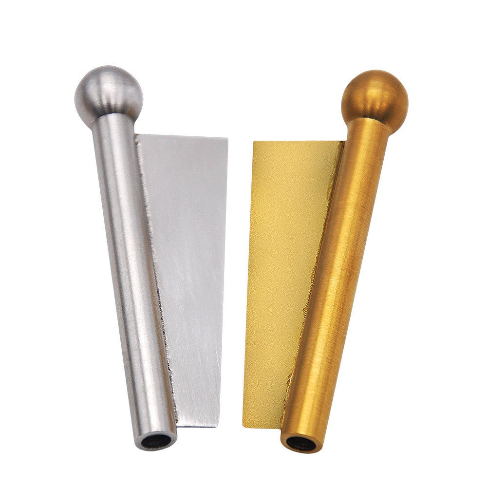 Mini Metal Nasal Snuff Sniffer Straw Snorter Snuffer Tube With Blade Edge