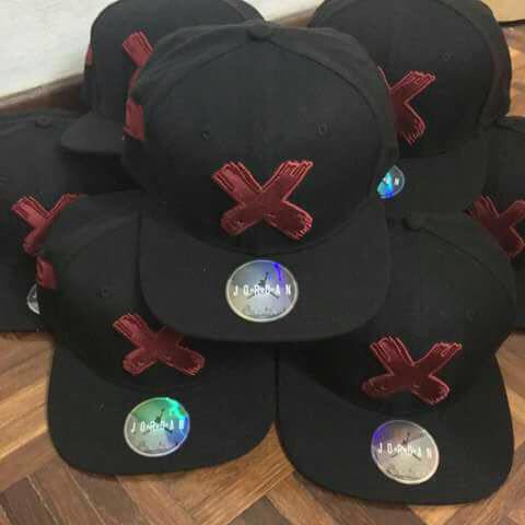Nike Air Jordan Retro 1 Banned X Snapback Hat Cap Black Red  c0a69e5381d