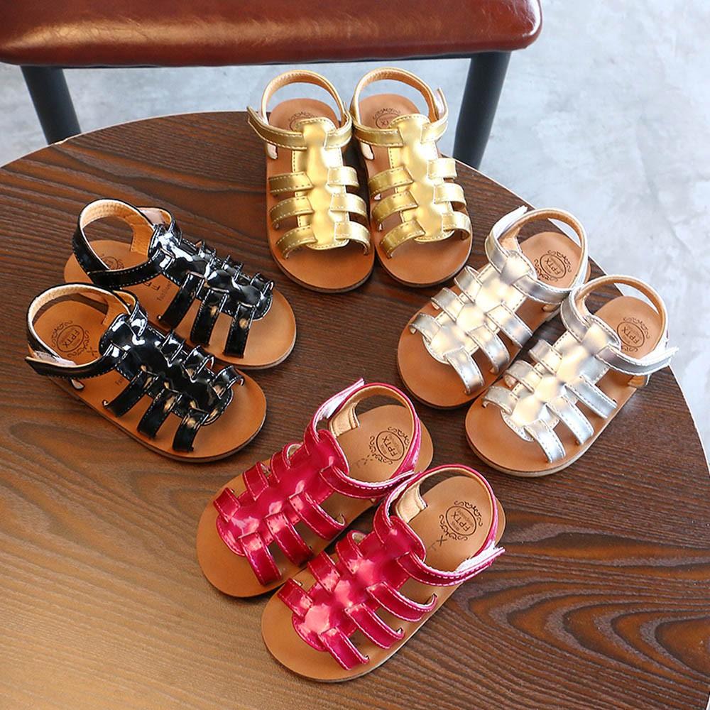 596102e0bd Summer Toddler Kids Baby Girls Sandals Beach Sandals Princess Roman Shoes
