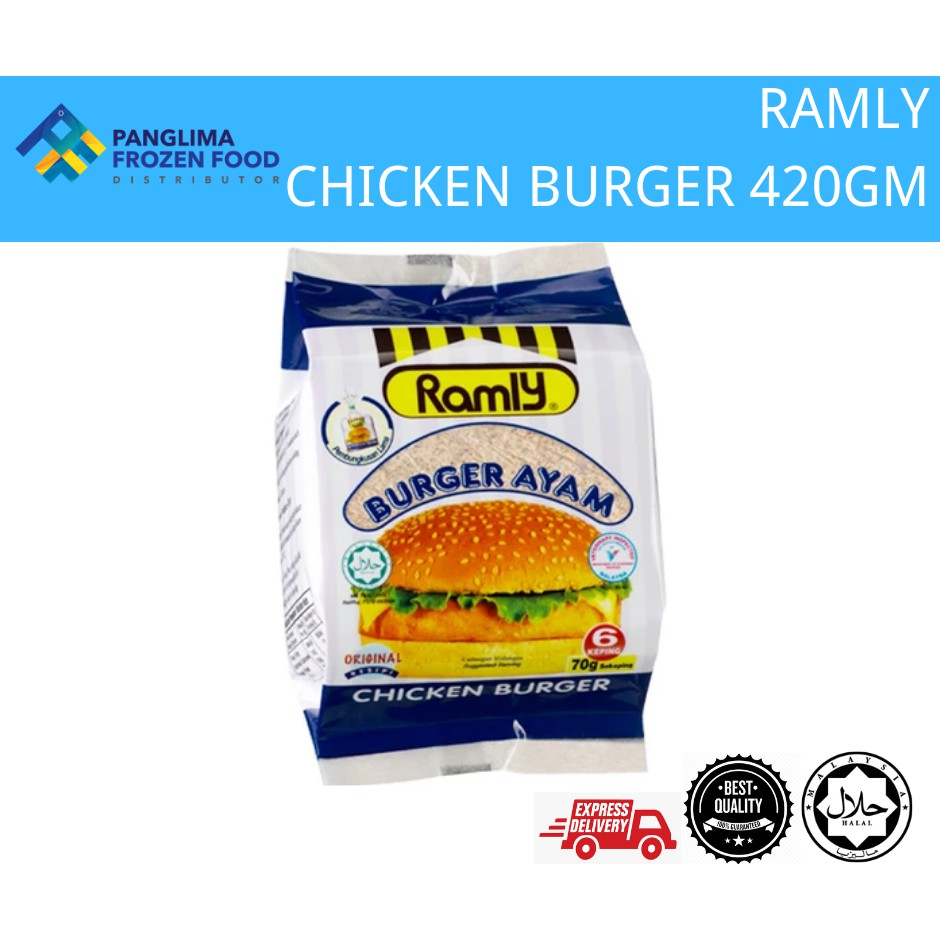 RAMLY CHICKEN BURGER 420GM [KLANG VALLEY ONLY]