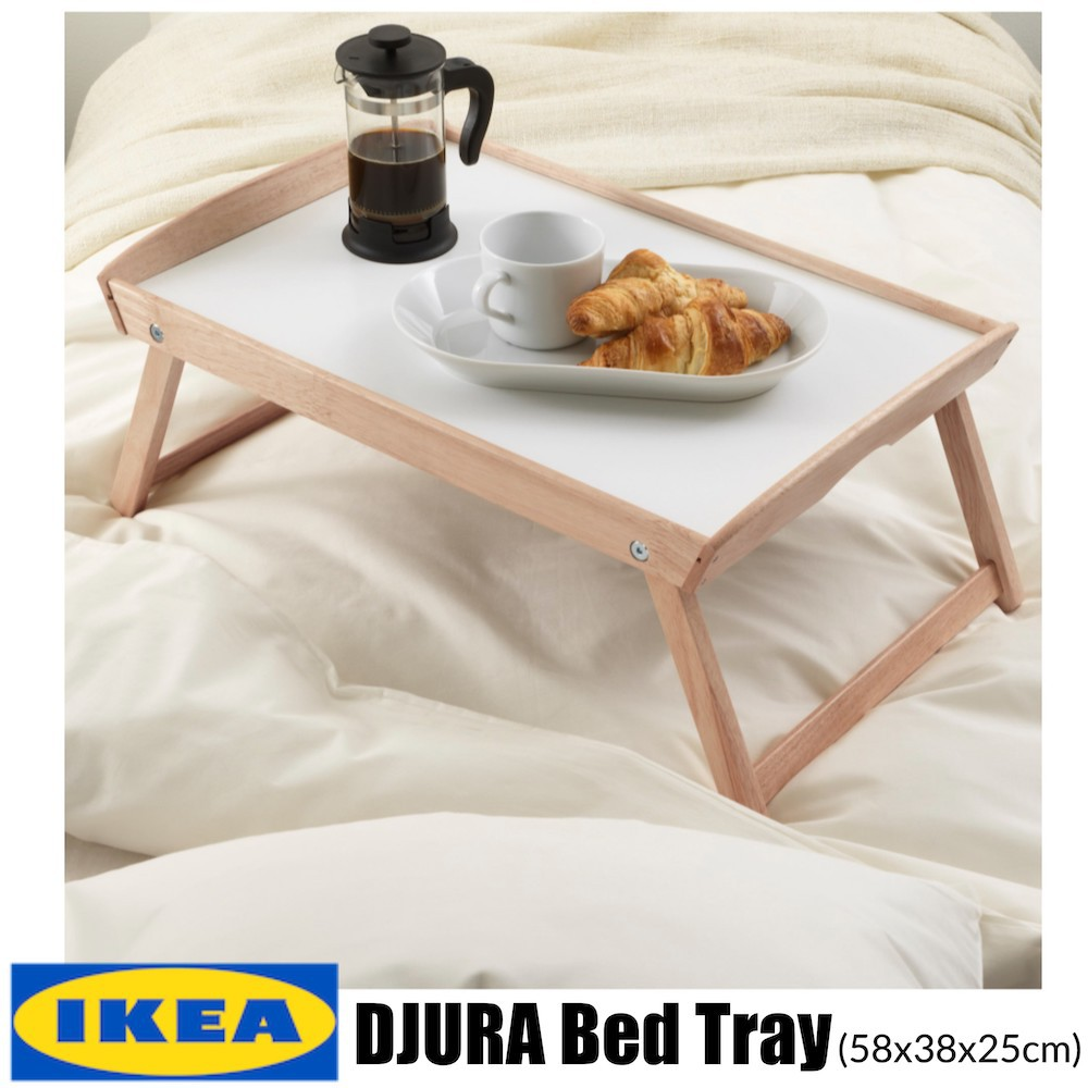 - IKEA DJURA Rubberwood Bed Tray Portable Table Foldable Table