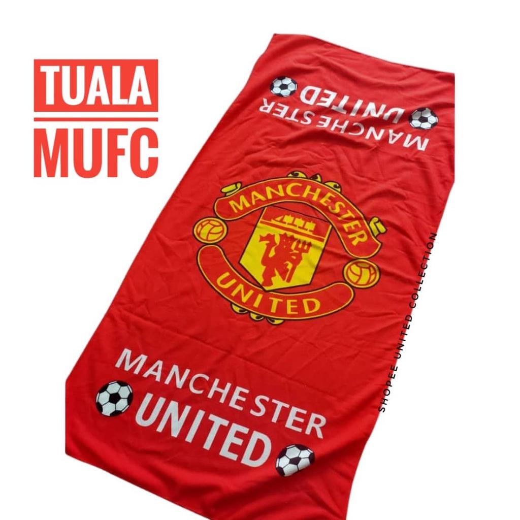 *TUALA MUFC *Towel Manchester United Tuala Mandi Serap Air 1 pcs Tuala Bola 140cm x 70cm Man United Man Utd MU Menyu