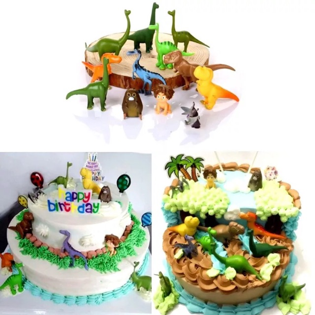 Peachy Jurassic Dinosaurs Birthday Cake Decoration 12Pcs Ready Stock Personalised Birthday Cards Paralily Jamesorg