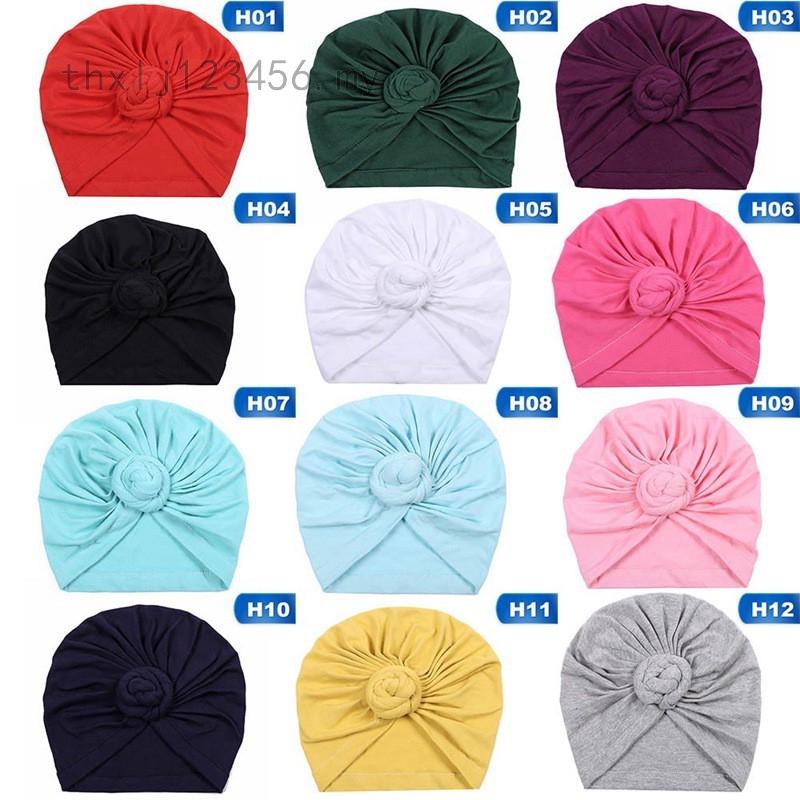 Newborn Pleated Baby Cotton Turban Knot Headband Headband Hat Head Wrap