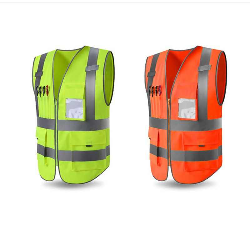 New Unisex High Visibility Long Sleeve Safety Waist Coat Hi-Viz Motorway Vest