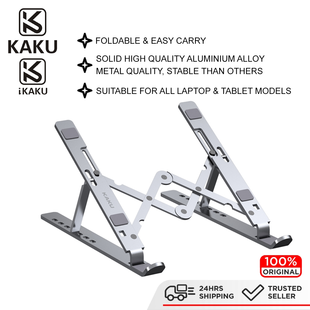 IKAKU KAKU TUOWEI Laptop Stand Seven Position Foldable Height Angle Adjustable Notebook Laptop Tablet Metal Stable Base