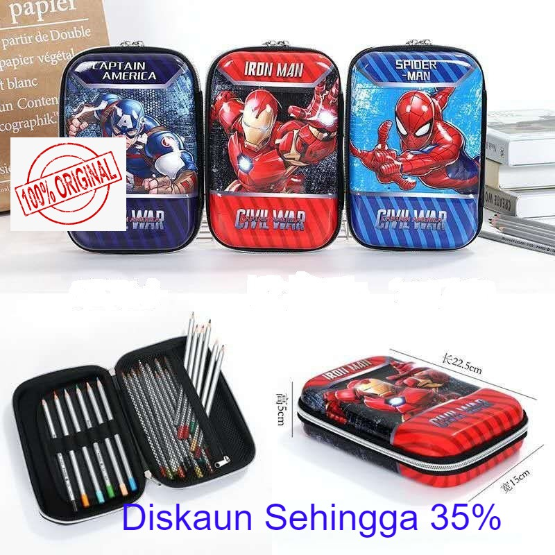 SMIGGLE Inspired Hardtop Pencil Case School Stationery Spiderman Marvel READY STOCK Malaysia