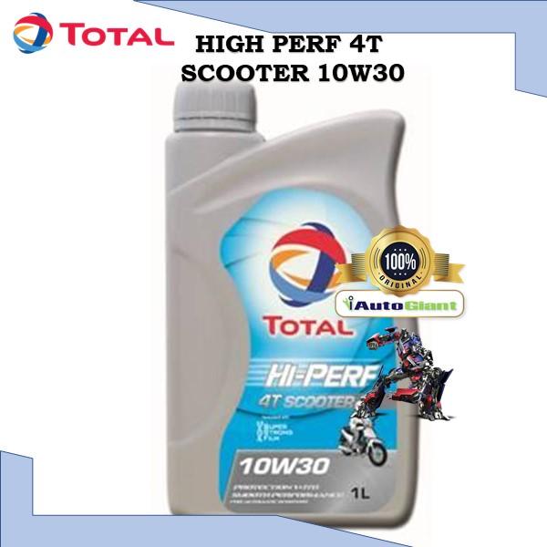 TOTAL HI PERF 4T SCOOTER 10W30, 1L - (100% ORIGINAL)MINYAK HITAM