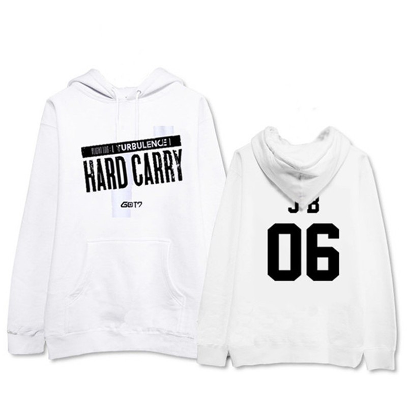 acd38725f1a4 Kpop GOT7 Fly Cap Hoodie Sweater Unisex TURBULENCE Sweatershirt Pullover  Coat