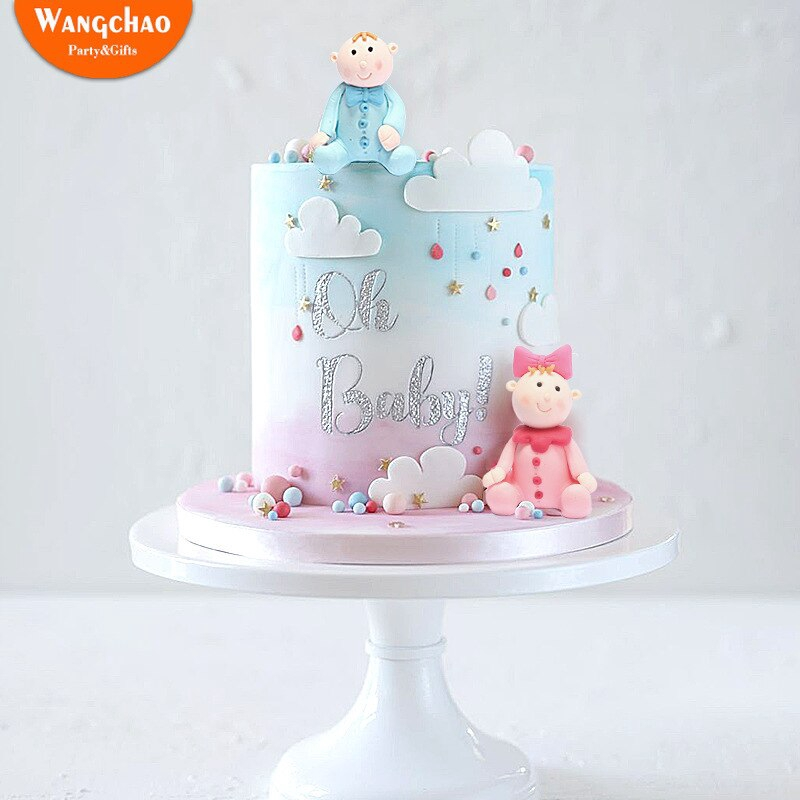 Marvelous Baby Shower Oh Baby Polymer Clay Dolls Cake Topper Child Boy Girl Personalised Birthday Cards Paralily Jamesorg