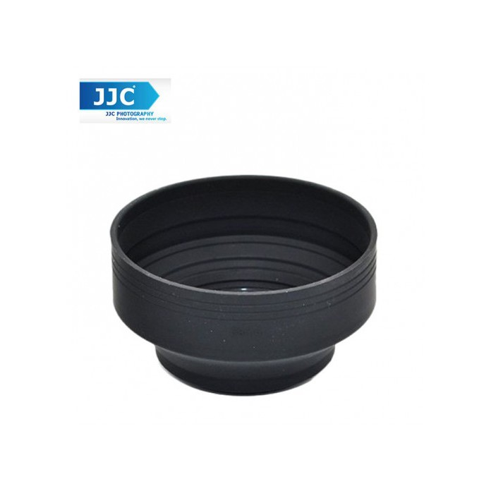JJC LS-62S 62mm Stage Collapsible Silicone Standard Lens Hood for Camera