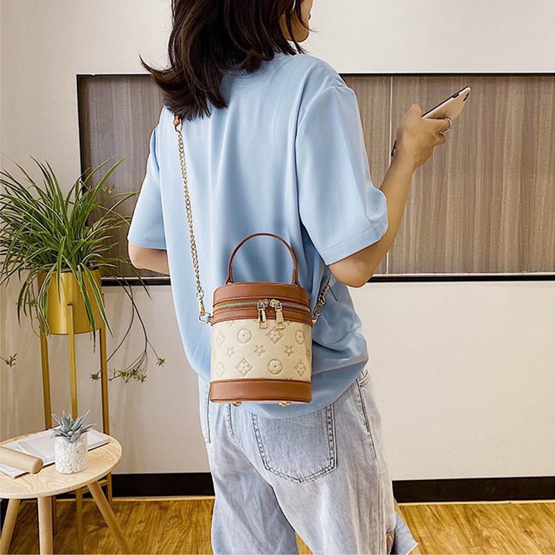 GDeal Summer Cylinder Female Bag Modern Fashion Trunk Bag Women Dating Dinner Nice Big Capacity Sling Bag
