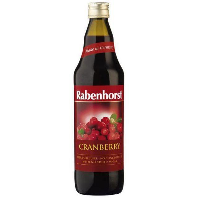 Rabenhorst Natural Cranberry Juice 750ml vegan, Germany, Health Paradise