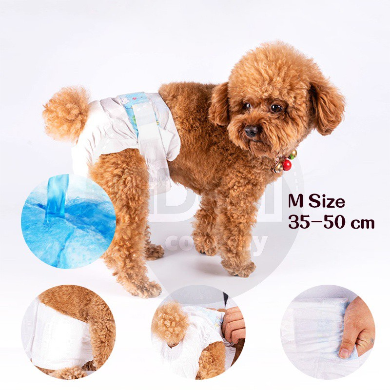 GDeal Male Pets Dog Diapers Physiological Pants Comfortable Strong Water Absorber Diapers 12pcs S M L Size