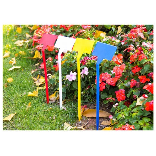Symbol Of The Brand 20pcs Gardening Plant T Shape Waterproof Tags Flower Vegetable Planting Label Tools Farm Garden Seedling Tray Mark Garden Tools Garden Tools Tools