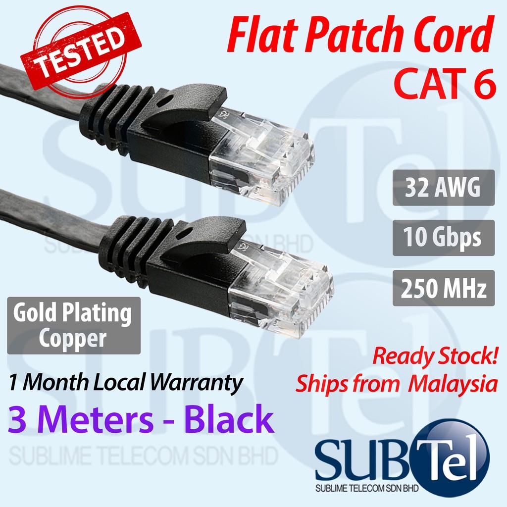 Length CAT6-3 CAT6 Flat Ethernet Unshielded Gigabit RJ45 Network LAN Cable 8m