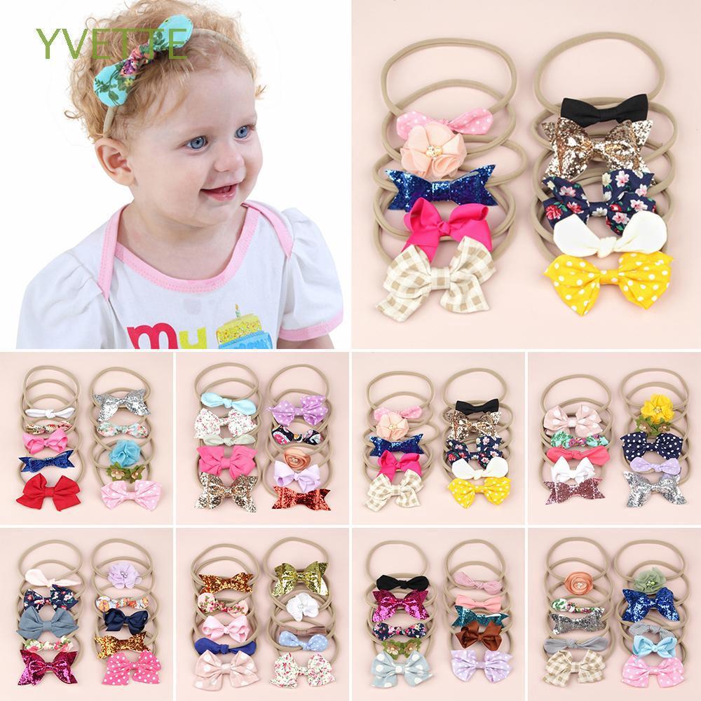 Cute Baby Printing Intersect Rabbit Ears Elastic Cloth Girls Headbands Headdress