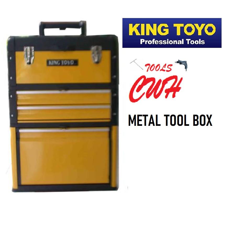 KING TOYO KT-B305ABD 3LAYER METAL TROLLEY TOOLBOX TOOL BOX TOOLS STORAGE 18613 18-613  MYDIY SATAGOOD TOPTUL PRODIY