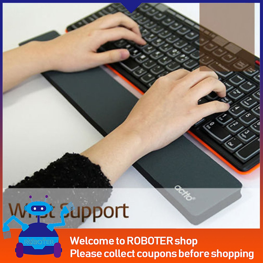 1 Pc Black Support Comfort Gel Wrist Pad For Pc Keyboard Raised Platform Arm Mouse & Keyboards Computer & Office