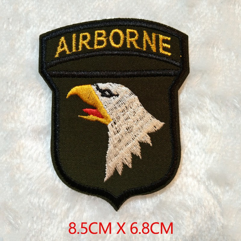 672a88d2719a 6pc men boy clothes military mark logo patches fabric DIY army U.S Navy  airborne