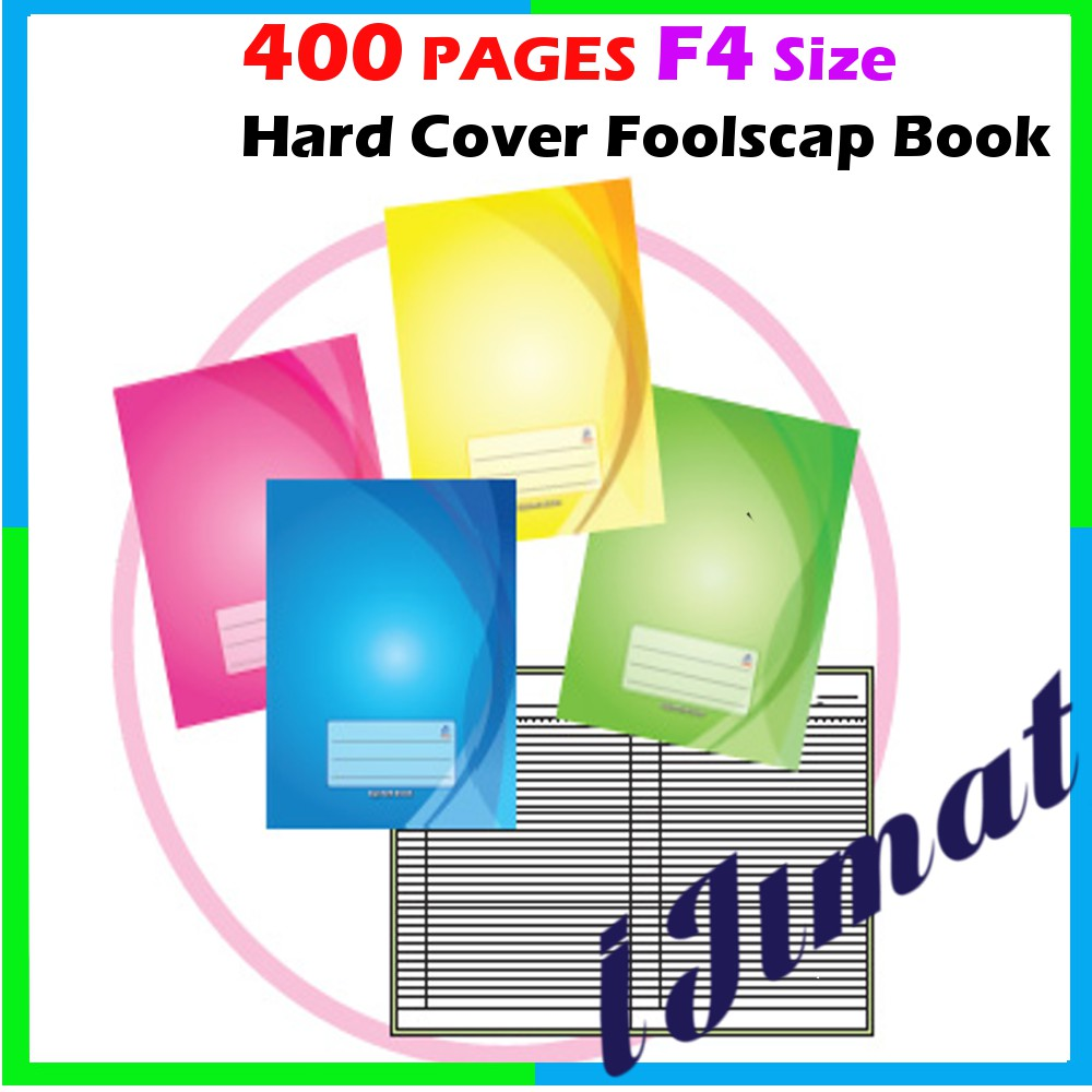 400PGS HARD COVER FOOLSCAP LOG BOOK F4 SIZE / F4 SIZE NOTE BOOK (SINGLE  LINE)