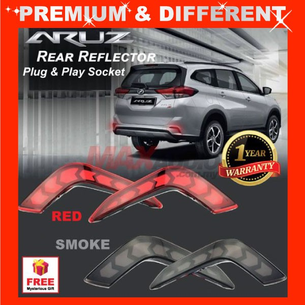 [FREE Gift] PERODUA ARUZ Plug n Play Night Rider Sequential Running Rear Bumper Reflector LED Light with Turn Signal