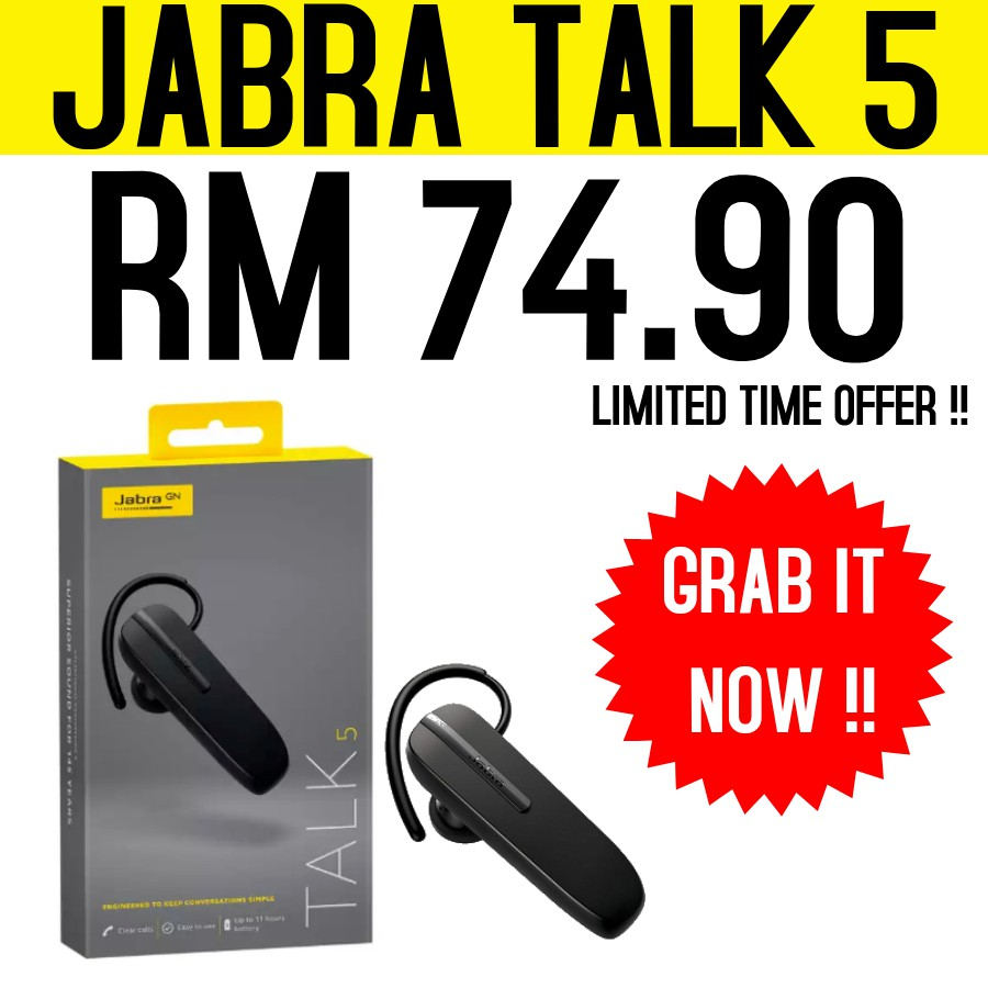 Jabra Talk 5 Bluetooth Headset Shopee Malaysia