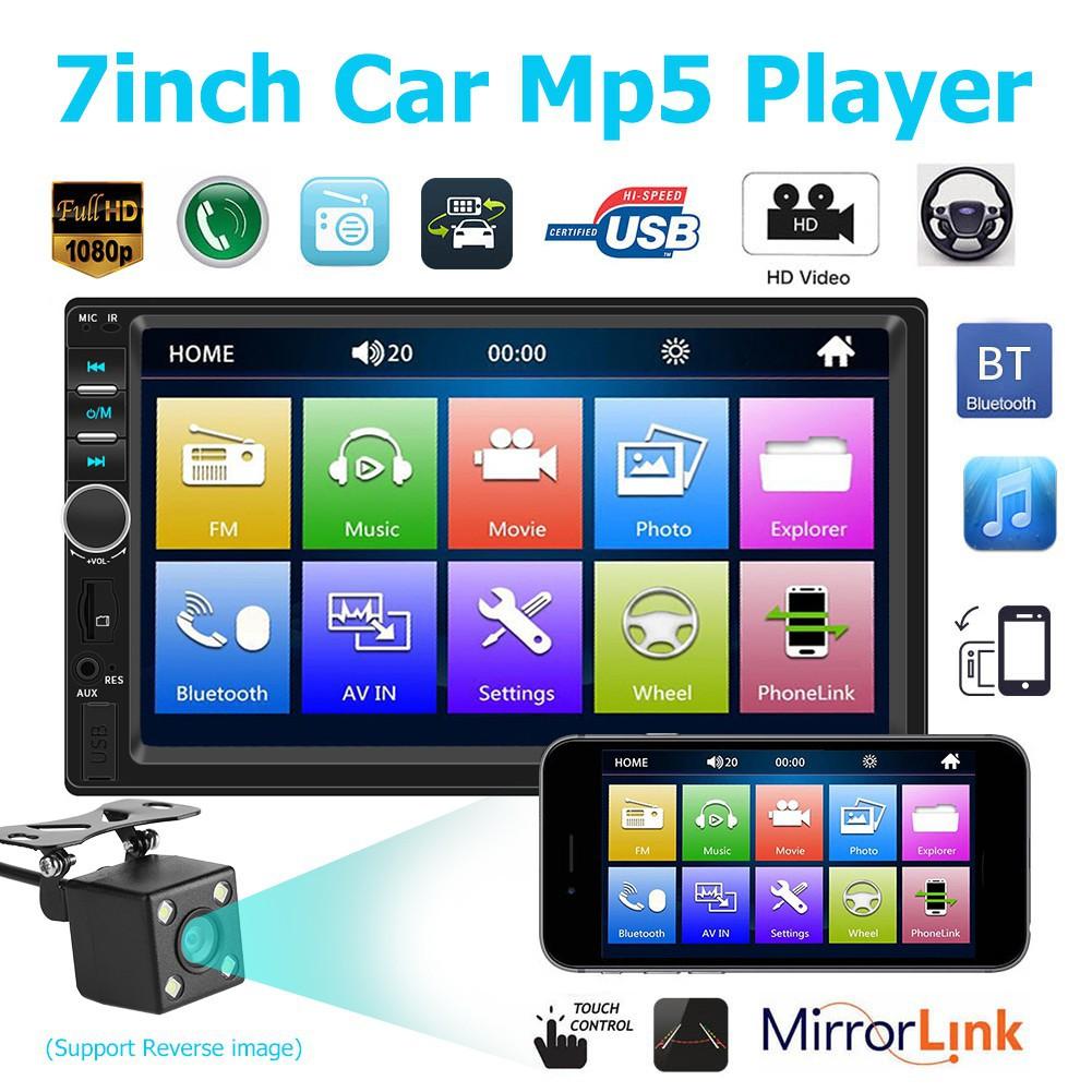 HOM! Car Radio 7018B 7 Inch Dash Audio 1080P Car Rear View