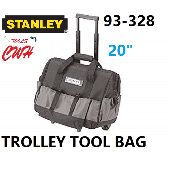 "20"" 93-328 STANLEY OPEN MOUTH WHEELED TOOL TOOLS BAG STORAGE 93328"