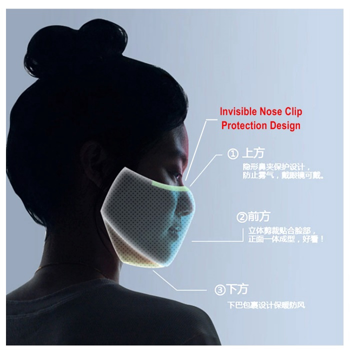 PM2.5 anti influenza mask gasket 3 layers anti virus filter with 2 safety masks adult