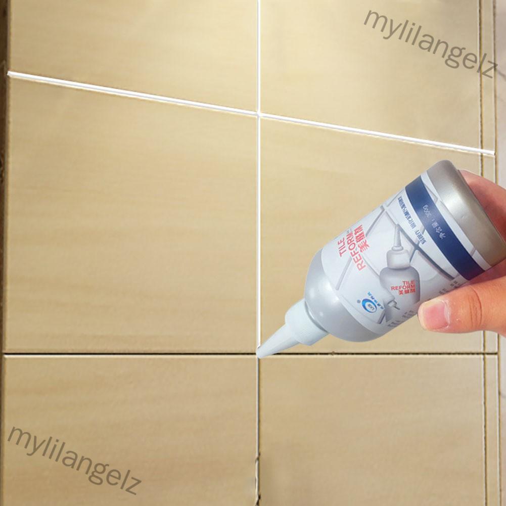 Mylilangelz 280ml Waterproof Tile Crack Beauty Grout Sealant Aide Repair Seam Filling Reform Wall Glue