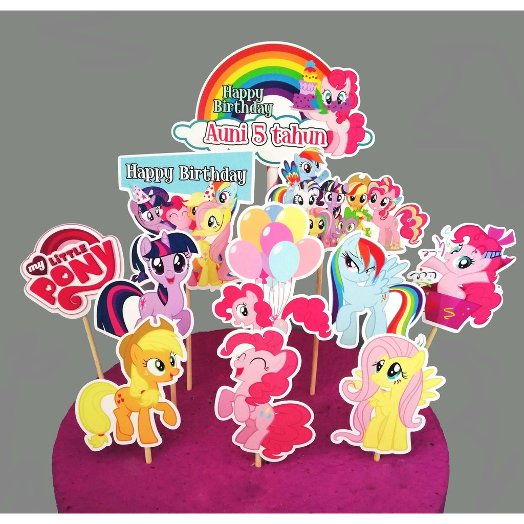 Cake Topper Cupcake Topper My Little Pony For Cake Decoration Shopee Malaysia