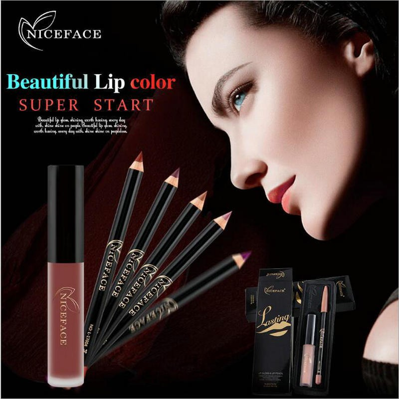 Qibest Colorful Matte Lipstick Long Lasting Waterproof Velvet Batom Nude Liquid Soft Lip Cream Women Sexy Red Makeup Cosmetics To Suit The PeopleS Convenience Beauty Essentials