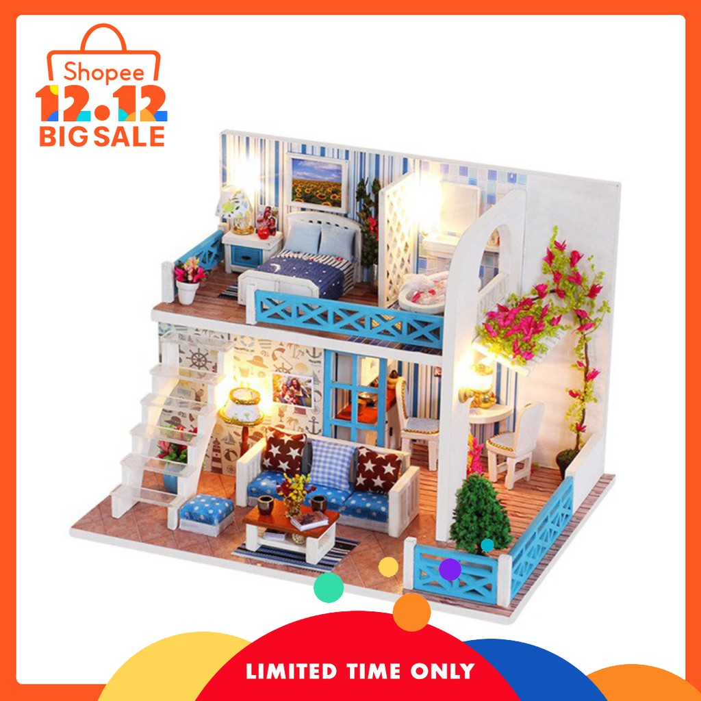 Architecture/diy House/mininatures Hot Diy Glass Ball 3d Miniature Assemble Model Creative Diary Building Dollhouse Kits With Fantasy Funitures Festival Gifts High Safety