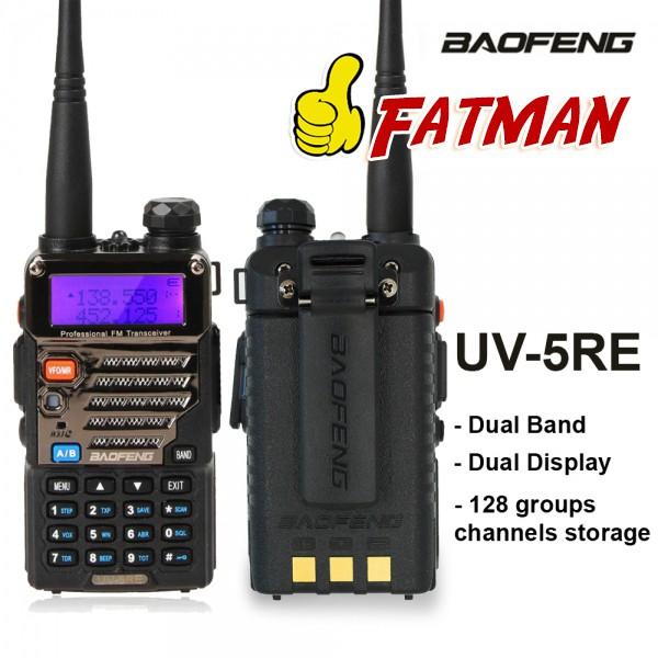 Baofeng UV-5RE Free Earpiece Walkie Talkie Dual Band Portable 2 Way Radio  UV5RE
