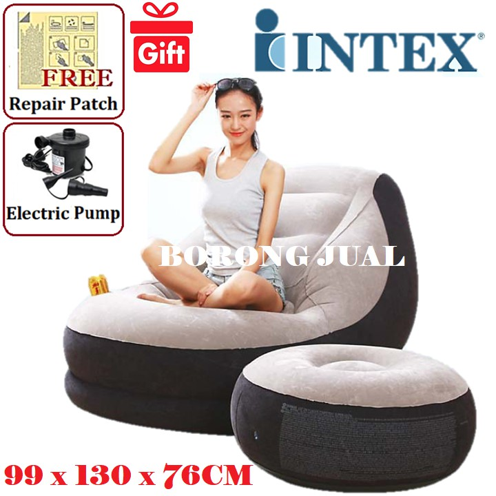 Swell Intex Inflatable Relaxing Air Sofa Seat Chair Foot Rest Lounge Onthecornerstone Fun Painted Chair Ideas Images Onthecornerstoneorg