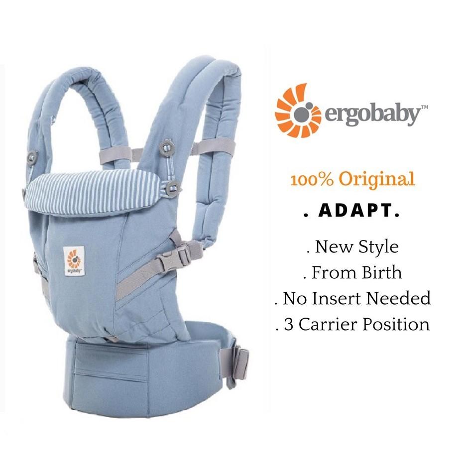 Authentic Ergo Ergobaby Adapt Newborn Baby Carrier 3 Color Black Azure Admiral B