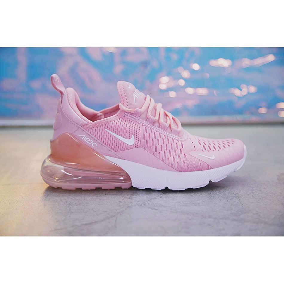 Nike Air Max 270 Shoes Women Airmax 27c Running Shoes Jogging Sneakers Pink