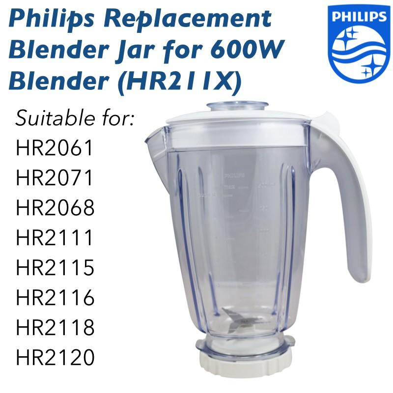 Philips Blender Replacement Jar Complete Set HR211X (Suitable HR2115,  HR2111)
