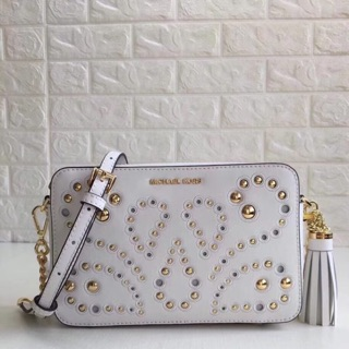 06a261c7d4d6 Pre-order)Authentic♚ Michael kors ginny medium embellished leather ...