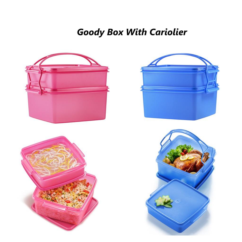 Jumbo Goody Box Tupperware Set Bekal Berkelah