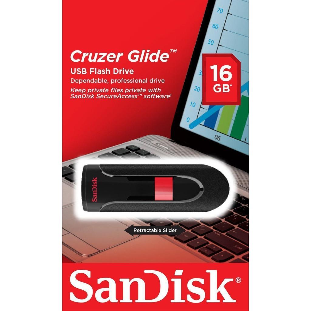 SanDisk 16GB Cruzer Glide USB 2.0 USB Drive SDCZ60-016G