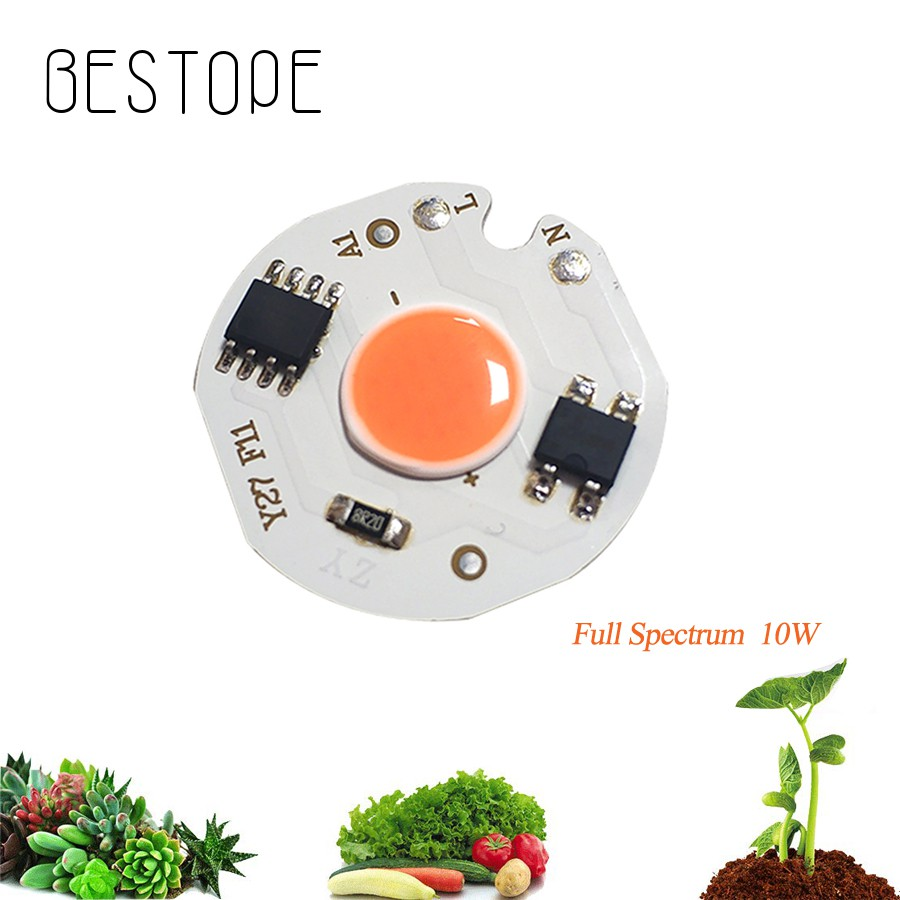 Full Spectrum LED Grow Light Chip 10W for Indoor Plant Grow Light Chip Lamp  beads 220V Diode Fitolampy Phyto Lamp